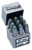 C.H. Hanson Premier Steel Hand Stamp Sets, 1/8 in, 0 thru 9, 1/SET