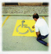 "C.H. Hanson 43"" HIGH HANDICAPPED SYMBOL PARKING LOT, 1/EA, #12438"