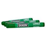 Dixon Ticonderoga Lumber Crayons, 1/2 in X 4 1/2 in, Green, 12/DOZ, #52200