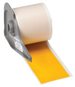 Brady BMP71 Indoor/Outdoor Vinyl Labels, 50 ft x 2 in, Yellow, 1/EA, #M71C2000595YL