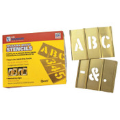 C.H. Hanson 33 Piece Single Letter Sets, Brass, 3 in, 1/ST