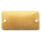 C.H. Hanson Brass Tags, 18 gauge, 3 in x 1 in, 1/8 in Holes, Rounded Rectangle, 100/BOX, #41292