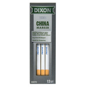 Dixon Ticonderoga Phano China Markers, White, 12/DOZ, #92