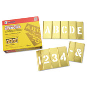 C.H. Hanson Brass Stencil Letter & Number Sets, Brass, 1 in, 1/SET