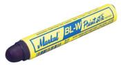 Markal Paintstik BL-W Markers, 11/16 in dia, 4 3/4 in, Blue, 12/DZ, #80735