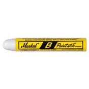 Markal Paintstik B Markers, 1 in X 4 3/4 in, White, 12/DOZ, #80260