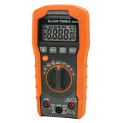 Klein Tools MM400 Digital Multimeters, 19 Function, 32°F to 104°F, 10A (AC/DC), 1/EA, #MM400