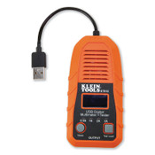 Klein Tools USB Digital Meter and Tester, USB-A (Type A), 1/EA, #ET910