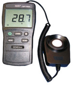 General Tools Wide Range Digital Light Meter, 4 Range, 20,000 lx/2,000 fc, 1/EA, #DLM1337