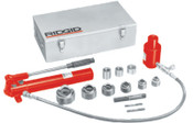 Ridge Tool Company Hydraulic Knockout Sets, 2 in, Hand Pump, Draw Bolts, Draw Bar, Hose, 1/KIT, #23477