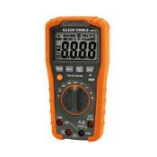 Klein Tools Digital Multimeters, 3 Functions, 0 to +1000 Deg F Temp Range, 40 Mohm, 1/EA, #MM600