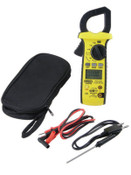 General Tools Rugged HVAC True RMS Amp Clamp Meters, 11 Function, 600A AC/DC, 1/EA, #DAMP68