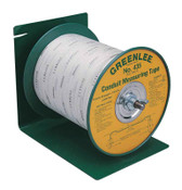 Greenlee Poly-Measuring Tape, 3/16 in W, Waterproof Polyester, 3000 ft, 1/EA, #50215620