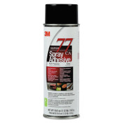 3M Super 77 Mult-Purpose Spray Adhesives, 24 oz Aerosol Can, Clear, 12/CA