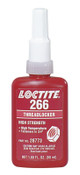 Loctite 266 Threadlockers, High Strength/High Temperature, 50 mL, Red-Orange, 1/EA