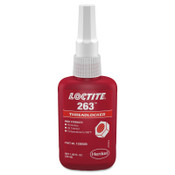 Loctite 263 Threadlockers, High Strength, 50 mL, 1 in Thread, Red, 1/EA