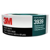 3M Heavy-Duty Silver Duct Tape 3939, 24 mm x 54.8 m x 9.0 mil, 1/ROL