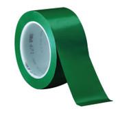 3M Vinyl Tape 471, Green, 4.35 in x 2 in, 1/RL