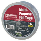 Berry Global 323 Multi-Purpose Plain Foil Tape, 72 mm x 46 m, 5 mil, Aluminum Silver, 1/RL