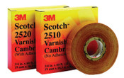 3M Scotch Varnished Cambric Tapes 2520, 36 yd x 3/4 in, Yellow, 1/ROL