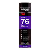 3M Hi-Tack 76 Spray Adhesives, 24 oz Tube, Clear/Amber, 12/CA