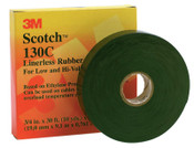 3M Scotch Linerless Splicing Tapes 130C, 30 ft x 3/4 in, Black, 1/RL