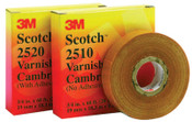 3M Scotch Varnished Cambric Tapes 2510, 36 yd x 2 in, Yellow, 1/ROL