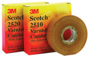 3M Scotch Varnished Cambric Tapes 2510, 60 ft x 3/4 in, Yellow, 1/ROL