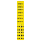Brady Medical Gas Pipe Markers, Medical Air 50-55 PSI, Black on Yellow, 2 1/4 x 2 3/4, 1/CG