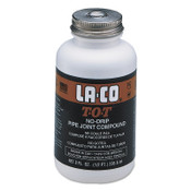 La-Co T-O-T Pipe Thread Compounds, 1/2 Pint Brush-In-Cap, Gray, 1/CAN