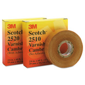 3M Scotch Varnished Cambric Tapes 2510, 36 yd x 1 in, Yellow, 1/ROL