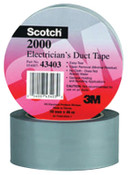 3M Scotch Electricians Duct Tapes 2000, Gray, 2 in x 50 yd x 6 mil, 1/ROL