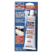 Permatex Clear RTV Silicone Adhesive Sealants, 3 oz Tube, Clear, 12/CS