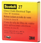 3M Scotch Glass Cloth Electrical Tapes 27, 66 ft x 3/4 in, White, 1/RL