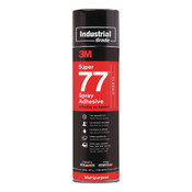 3M Super 77™ Multi-Purpose Spray Adhesive, 24 oz Aerosol Can, Clear, 12/CA