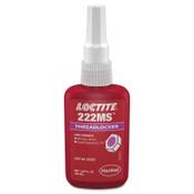 Loctite 222MS Threadlockers, Low Strength/Small Screw, 0.5 mL, Purple, 1/EA