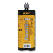 DeWalt Pure 110+ Epoxy Injection Adhesive, 20.5 fl oz, Gray, 12/BX