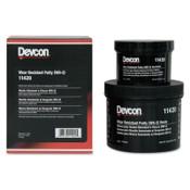 Devcon Wear Resistant Putty WR-2, 3 lb, Dark Gray, 1/EA
