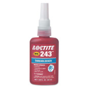 Loctite 243 Threadlockers, Medium Strength, 50 mL, 3/4 in Thread, Blue, 1/EA