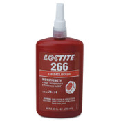 Loctite 266 Threadlockers,High Strength/High Temperature,250 mL,3/4 in Thread,Red-Orange, 1/EA