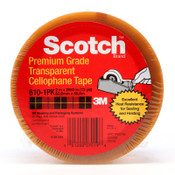 3M Scotch Premium Cellophane Tapes, Clear, 1 in x 72 yd, 1/ROL