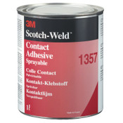 3M Scotch-Weld Neoprene High Performance Contact Adhesive 1357, Gray, 1/QT