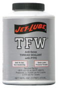 Jet-Lube TFW Multi-Purpose Thread Sealants, 1 pt Can, White, 1/CAN