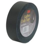 3M Cloth Gaffers Tape, 1 in X 60 yd, 12 mil, Black, 1/RL