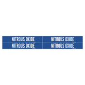 Brady Medical Gas Pipe Markers, Nitrous Oxide, White on Blue Vinyl, 1 1/8 in x 7 in, 1/CG