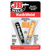 J-B Weld Cold Weld Compounds, 2 oz (2 x 1 oz.) Skin Packed, 1/EA