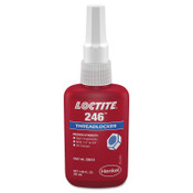 Loctite 246 Threadlockers, Medium Strength/High Temperature, 50 mL, Blue, 1/EA
