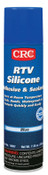 CRC RTV Silicone Adhesive/Sealants, 8 oz Pressurized Tube, Blue, 12/CS