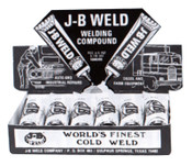 J-B Weld Cold Weld Compounds, 2 oz (2 x 1 oz.) Display, Dark Grey, 6/CTN