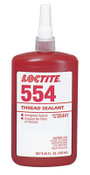 Loctite 554 Thread Sealant, Refrigerant Sealant, 250 mL Bottle, Red, 1/BTL